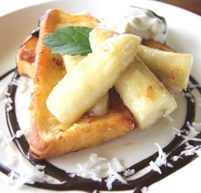 ローストバナナのフレンチトースト